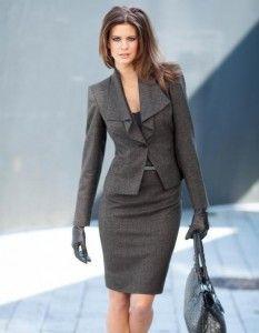 1a9b0bf38 Trajes de mujeres » Traje gris para mujer 6   vestido en 2019 ...