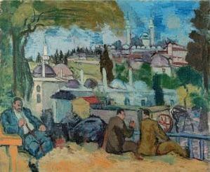 Cemal Tollu (1899-1968) Bursa 54.5 x 65.5 cm Tuval üzerine yağlıboya 1939