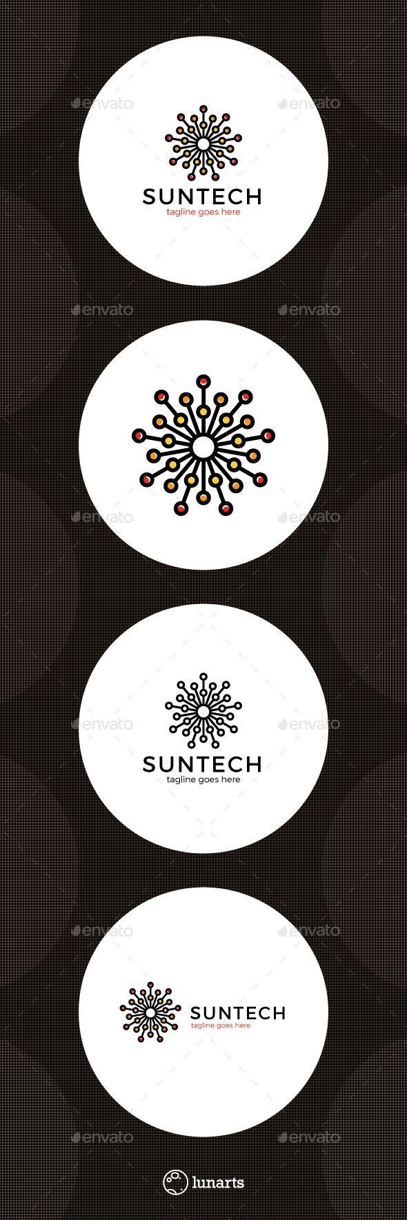 Sun Tech Logo - Abstract Logo Templates