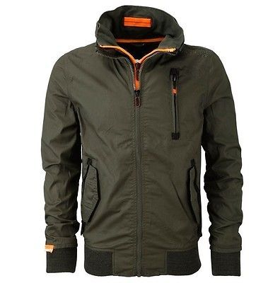 New SUPERDRY Fashion Men's Slim Fit Moody Bomber Lite Army Green Jacket Coat