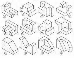 isometric drawing exercises for kids - Sök på Google