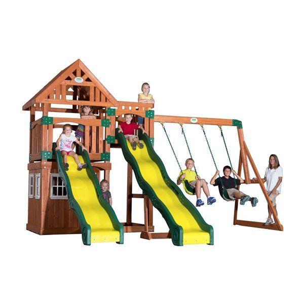 swing set by backyard odyssey backyard discovery buy swing sets