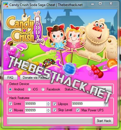 Candy Crush Soda Saga Hack Cheat  Hello everyone. Today I present to you the best game of Candy Crush Soda Saga by King . This is an incredible game that will bring you a lot of joy from the game.   #Android Candy Crush Soda Hack #Candy Crush Soda Activate Level #Candy Crush Soda Activate Lilipops #Candy Crush Soda Activate Lives #Candy Crush Soda Activate Moves #Candy Crush Soda Activate Power #Candy Crush Soda Add Level #Candy Crush Soda Add Lilipops #Candy Crush Soda Ad