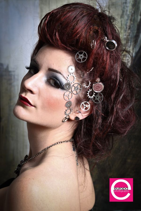 Steampunk wedding makeup