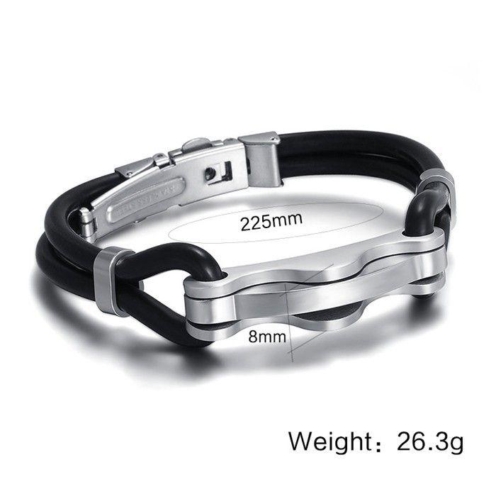 ORSA Nový design náramek Silikonový náramek Doprava zdarma Titanium Steel Pánské šperky Pánské Wrap Náramky OTB15 v šperků a doplňků pro AliExpress.com | Alibaba Group