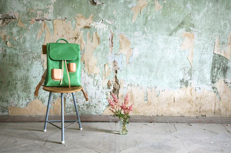 UUU! So beautiful! Pocket backpack Green by Kuula+Jylhä #finnishdesign #Kuula+Jylhä #weecos #sustainable