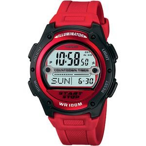 Casio Men's Digital Sport Watch, Red Resin Strap