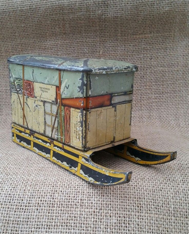 Rare JACOB & CO Biscuit Tin ~ SLEIGH ~ Vintage England 1930's | eBay