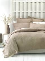 DELUXE WAFFLE QUILT COVER SETS QUEEN TAN Linen house