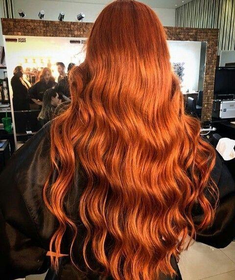 Ginger Goals Haare Kupfer Lange Rote Wellen In 2020