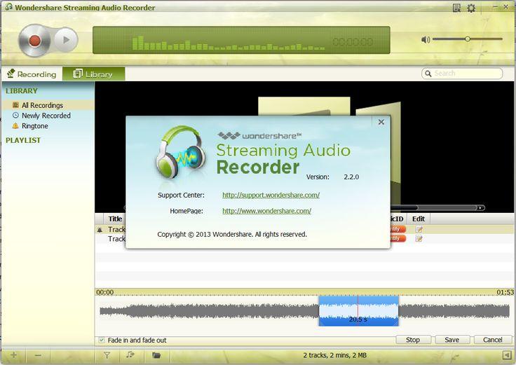wondershare streaming audio recorder serial