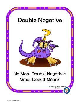 All Worksheets » Double Negative Sentences Worksheets - Free ...