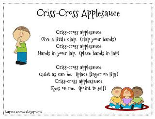 transition activities for preschool children criss cross applesauce transition poem beginning of the 176