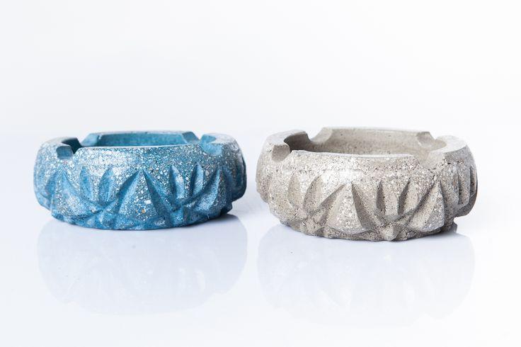 #handmade #concrete #blue #grey #ashtray #cement #beton