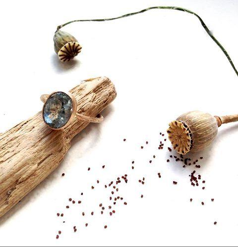 aquamarine with ilmenite - elfjoy special