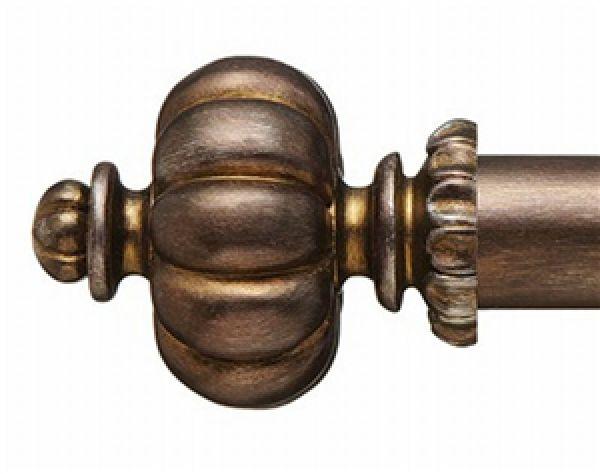 """Gabriella Finial for 1 3/8"""" Curtain Rod~Pair"""