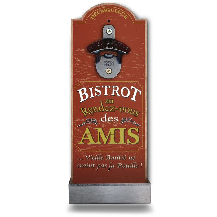 Natives Retro wall mounted bottle opener Bistrot des Amis 210967
