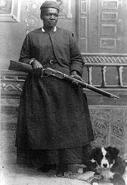 Mary Fields .... Back in west she was known as Stagecoach Mary