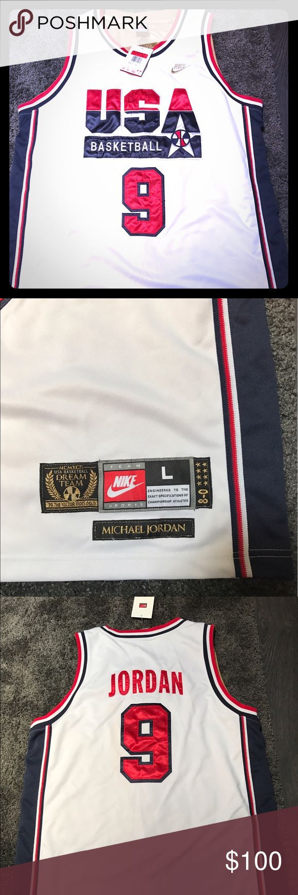 Jordan Olympic Dream Team 1992 Jersey New with tags- Michael Jordan Olympic Dream Team 1992 Jersey- white throwback jersey Jordan Other