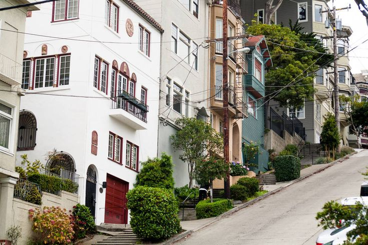 Climbing up steep, but beautiful, Russian Hill