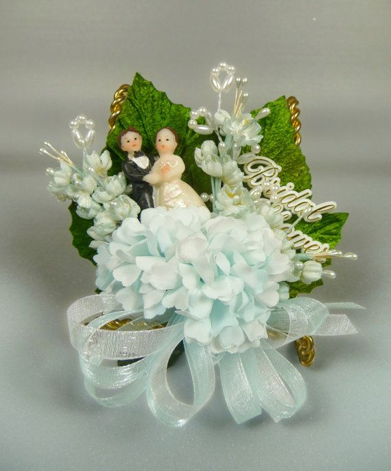 Bridal Shower Corsage Vintage Something Blue for the by meaicp, $24.00