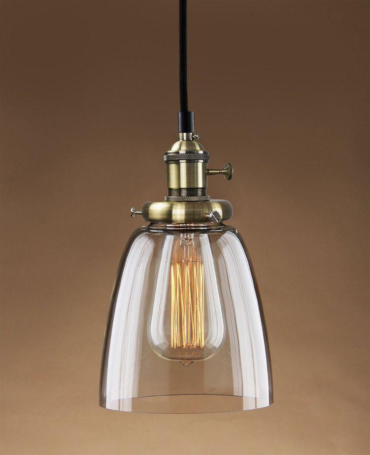 PureLume® Vintage Pendelleuchte Hanging Aged Croche mit Alt-Messing Rendelschalter Lampenfassung inkl. Nostalgie 40W Glühbirne: Amazon.de: Beleuchtung