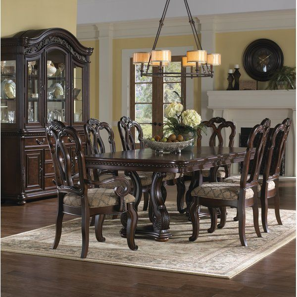 You Ll Love The Weinberger 7 Piece Dining Set At Wayfair Great Deals On All Furniture Product Brown Dining Room Brown Dining Room Set Formal Dining Room Sets