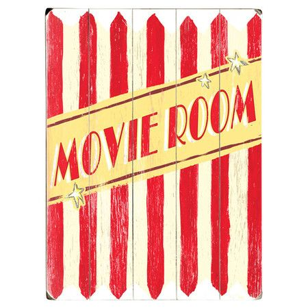 Create the perfect nook for watching movies at home with this statement wall art featuring a popcorn design. Product: Wall art