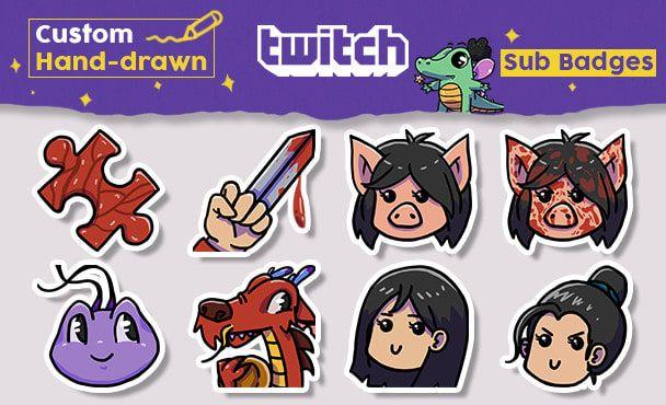create custom twitch emotes and sub badges | Twitch Emotes, Screens