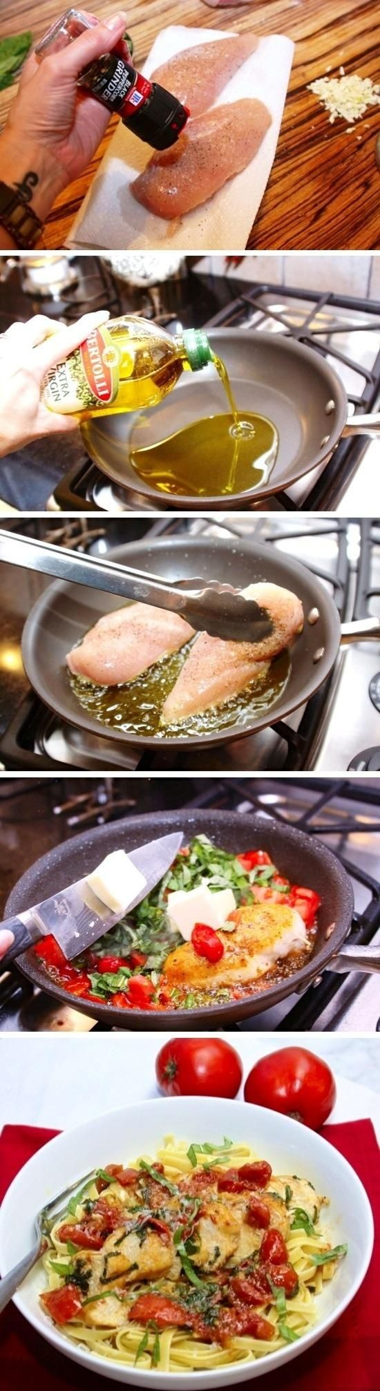 Tomato Basil Chicken. NOM