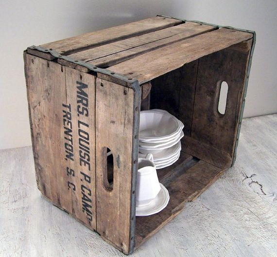 17 best images about wood crates on pinterest crates decorative storage boxes and storage chest - Decorative wooden crates ...