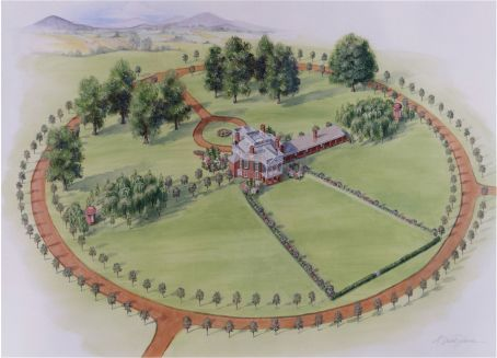 17 best images about poplar forest thomas jefferson on for Poplar forest floor plan