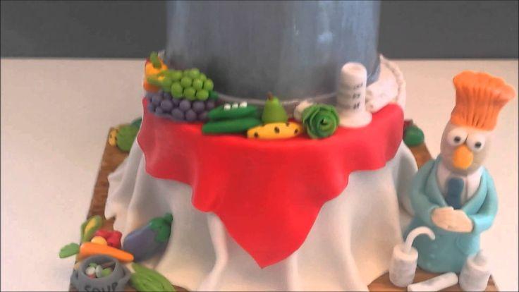 Beaker and Swedish Chef Cake