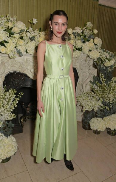 f9f3134f84 Alexa Chung attends the British Vogue and Tiffany Co Celebrate Fashion and  Film Party at Annabel s on February 10 2019 in London England
