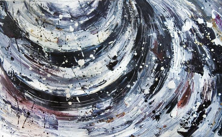 Buco nero  -  olio su tela