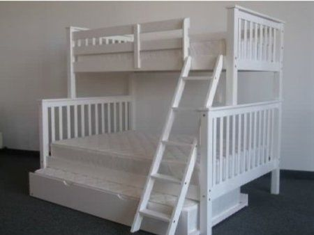Bedz King Bunk Bed with Twin Trundle, Twin