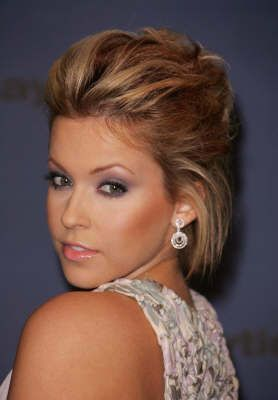 Love this for my short hair. maybe add a french braid, even. :]