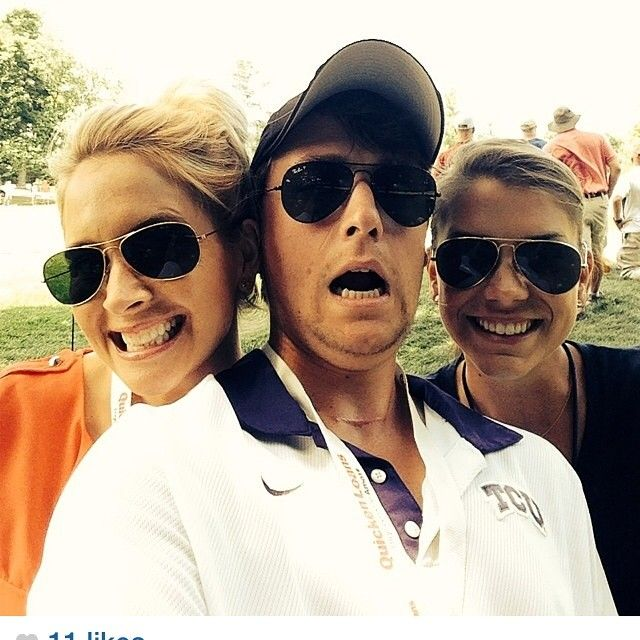 jordan spieth girlfriend annie verret on the right