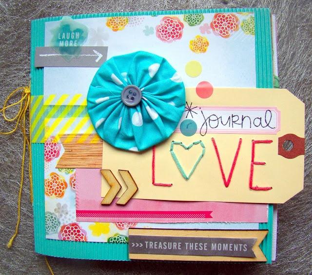 Judy Scrap: álbum journal love sm