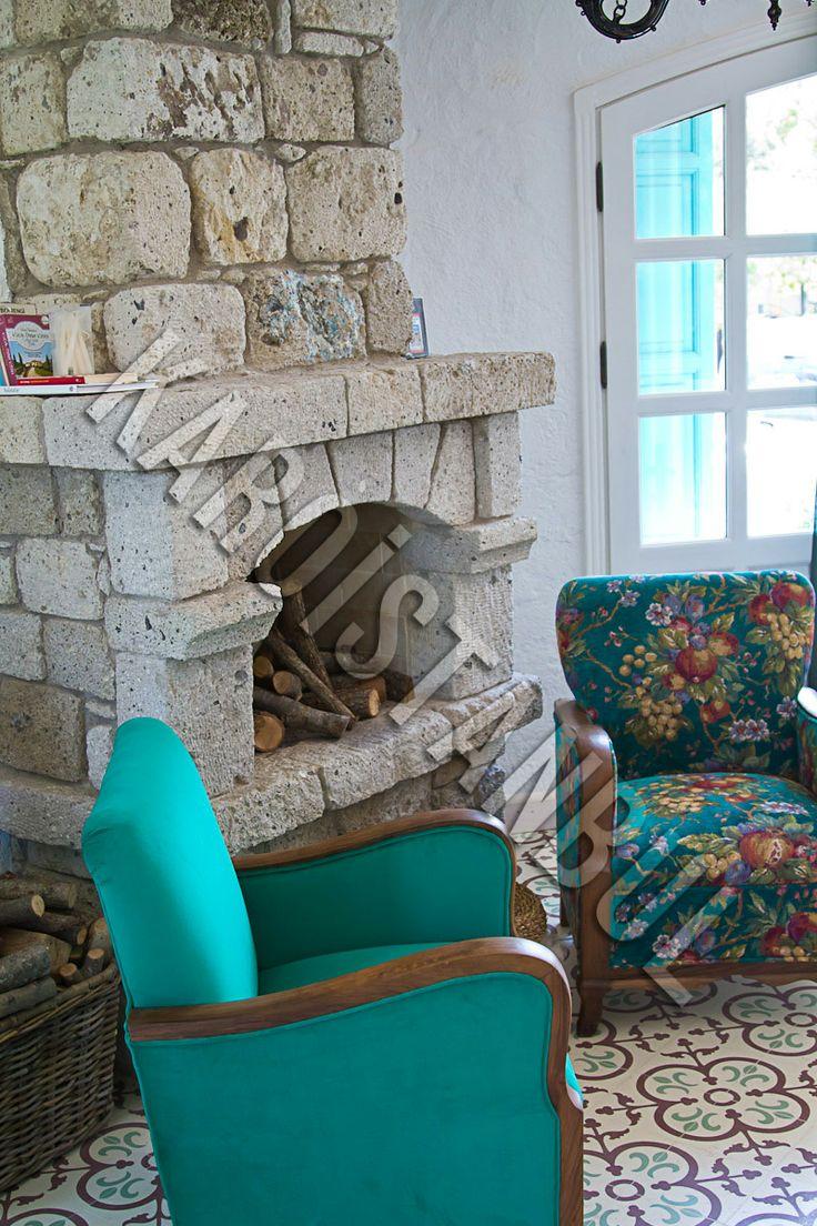 1850 Hotel / Alaçatı - Izmir The floor tiles made by Karoistanbul