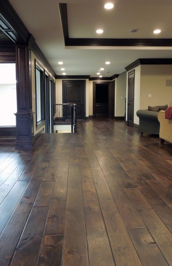 Naperville Signature Hardwoods Dark Wood Trim