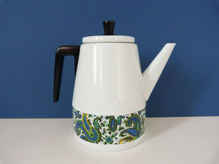 Enamel coffee pot Vintage by planetutopia on Etsy