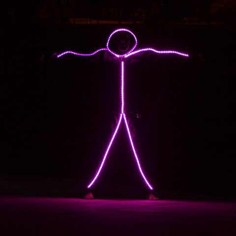 adult led stickman costume - Halloween Led Costume