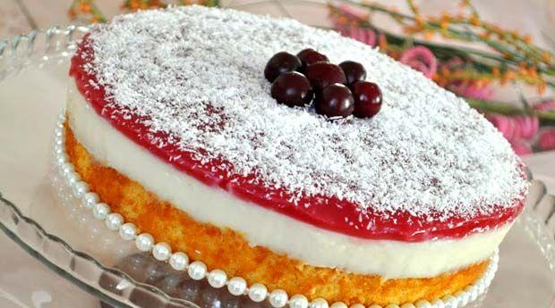 Jöleli Kremalı Pasta Tarifi