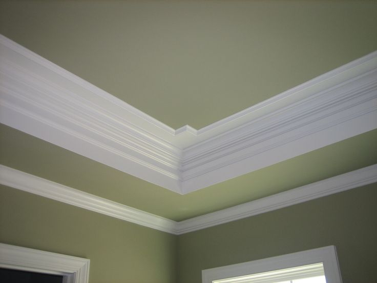 Tray ceilings with crown molding crown molding painted for Crown molding bedroom ideas