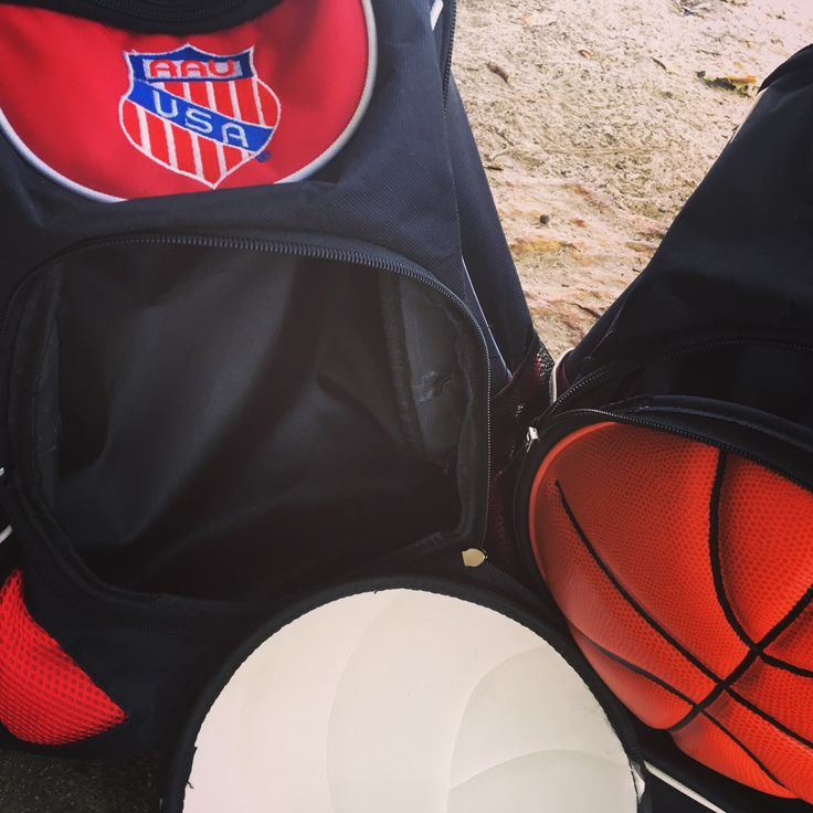 AAU Basketball Backpack made from REAL BASKETBALLS 15% off for next 24hrs.  Use code- AAU. It can hold your basketball and much more.  2 zippered compartments.  Real basketball material, and guess what else?  Free shipping included.