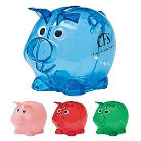 Promotional Mini Plastic Piggy Bank   Customized Mini Plastic Piggy Bank   Promotional Piggy Coin Banks