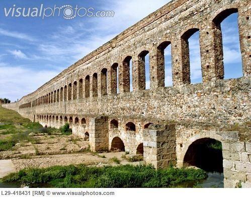 Roman aqueduct in Badajoz, Spain