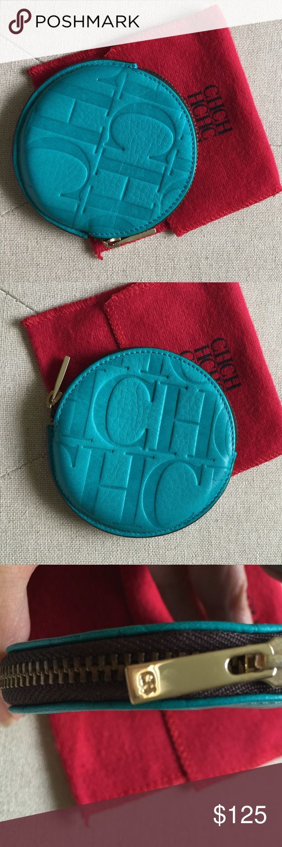 ‼️% Authentic Carolina Herrera Coin Purse‼️ Beautiful brand new Carolina Herrera Turquoise coin purse with tag. Carolina Herrera Bags Wallets