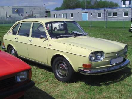 1971 VW 411 LE. Better than the Wolseley, but still no Merc. Our street cred was not yet restored.